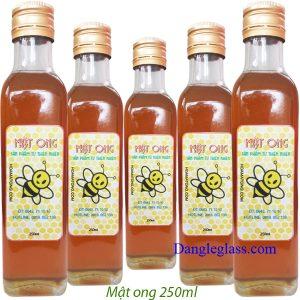 Chai Vuông đựng mật ong 250ml